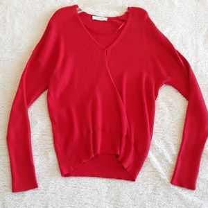 Elodie | NWOT Ribbed Crossover V-neck Sweater